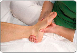 The doctor will palpate your Achilles tendon to assess pain and abnormalities to make a diagnosis of your injury.