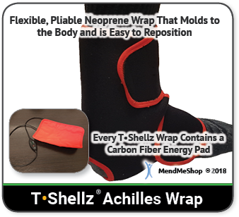 Use TShellz Wrap to increase flexibility and elasticity of your Achilles tendon before PT exercise.