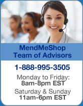 Contact one of our Mendmeshop Customer Service Advisors for any questions help with ordering and recommended treatment directions
