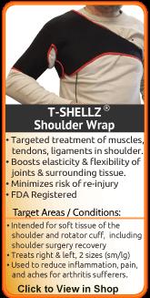 TShellz Wrap Shoulder - an advanced treatment for shoulder injury and rotator cuff injury